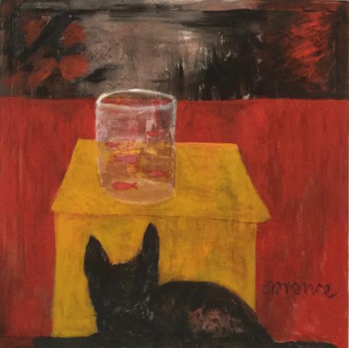 GOLDFISH WITH CAT