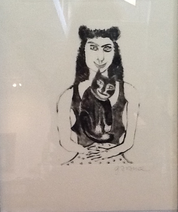 WOMAN WITH CAT  2